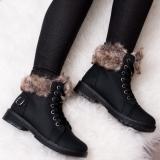 Black Fur Boot
