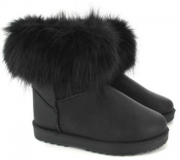 Black Fur Boots for Girl