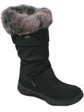Black Fur Snow Boot