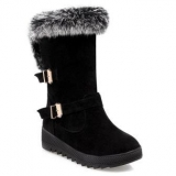 Black Winter Boots with Fur