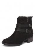 Fur Black Boot