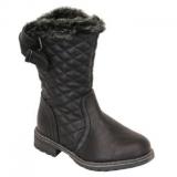 Girls Black Fur Boot