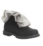 Womens Black Fur Boots