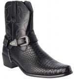 Black Snakeskin Boots