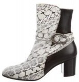 Black Snakeskin Boots For Ladies
