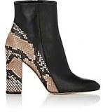Black & Snakeskin Boots