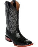 Black Snakeskin High Boots
