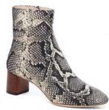 Black & White Snakeskin Boots
