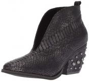 Black Snakeskin Ankle Boots