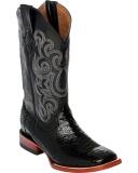 Black Snakeskin High Boots