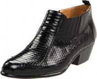Men's Black Snakeskin Boots