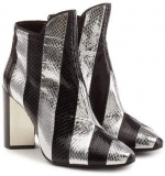 Silver & Black Snakeskin Boots