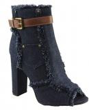 Cut Peep-Toe Block Heels