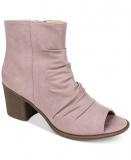 Open Toe Boots With Block Heels