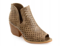 Peep Toe Shoes With Block Heel