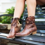 Cheap Cowgirl Ankle Boots