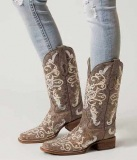 Cheap Square Toe Cowgirl Boots