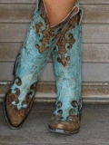Cheap Turquoise Cowgirl Boots