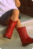 Red Cowgirl Boots for Kids