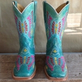 Turquoise Cowgirl Boots for Kids