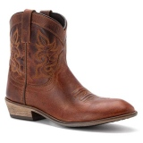 Brown Cowgirl Boots Round Toe