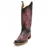 Cowgirl Boots with Cross and Wings