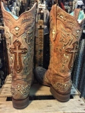 Cowgirl Boots with Crosses on Them