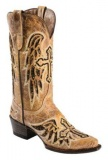 Flat Cowgirl Boots with Crosses