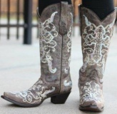 Women's Cowgirl Boots with Crosses