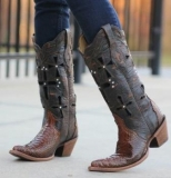 Brown Cowgirl Boots with Crosses