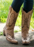 Cowgirl Snip Toe Boots with Crosses