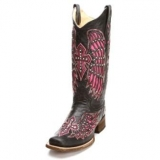 Pink Cowgirl Boots with Crosses