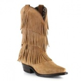 Layered Fringe Cowgirl Boots