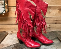 Red Fringe Cowgirl Boots