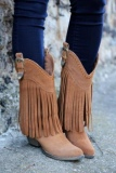 Suede Fringe Cowgirl boots
