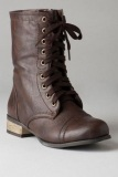 Dark Brown Combat Boots Men
