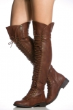 Dark Brown Girl Combat Boots