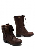 Combat Boots Dark Brown