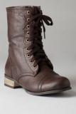Dark Brown Combat Boots Men