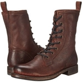 Short Dark Brown Combat Boots
