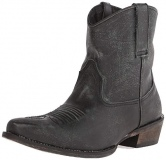 Distressed Black Riding Boots