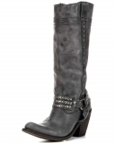 Knee High Distressed Black Boots