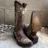 Cowgirl Boots Bbrown Embroidered