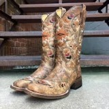 Square Toe Embroidered Cowgirl Boots