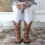 Women's Embroidered Cowgirl Boots