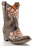 Brown Embroidered Cowgirl Boots