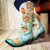 Cowgirl Boots with Embroidery