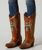 Embroidered Cowgirl Boots Circle G