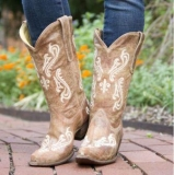 Embroidered Cowgirl Wide Calf Boots