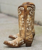 Embroidered Vintage Cowgirl Boots